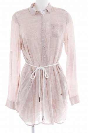 Gaastra Langarm-Bluse rosa-wollweiß Allover-Druck Casual-Look