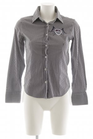 Gaastra Langarm-Bluse schwarz-weiß Streifenmuster Casual-Look
