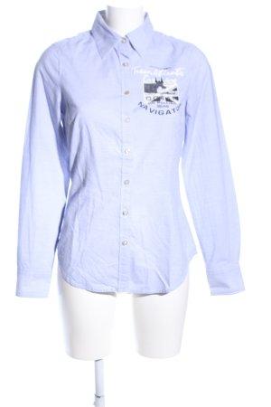 Gaastra Langarmhemd blau Motivdruck Casual-Look