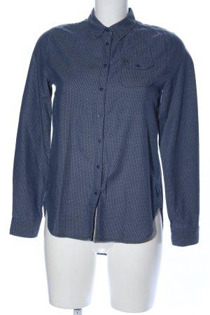 Gaastra Langarmhemd blau Allover-Druck Business-Look