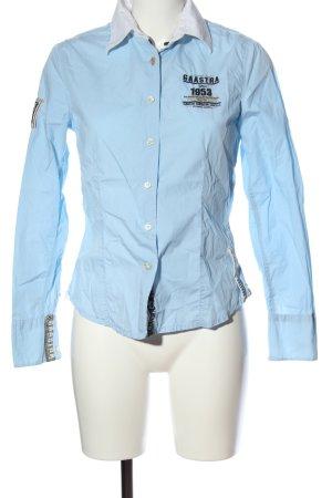Gaastra Langarmhemd blau Schriftzug gestickt Business-Look