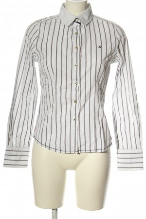 Gaastra Camisa de manga larga blanco-marrón look casual