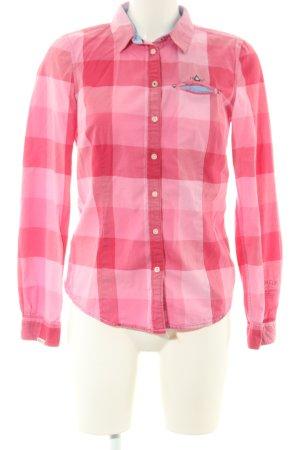 Gaastra Langarmhemd rot-pink Karomuster Casual-Look