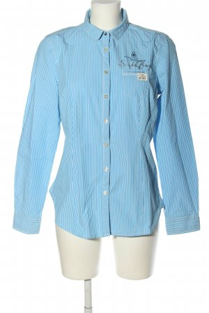 Gaastra Langarmhemd blau-weiß Allover-Druck Business-Look