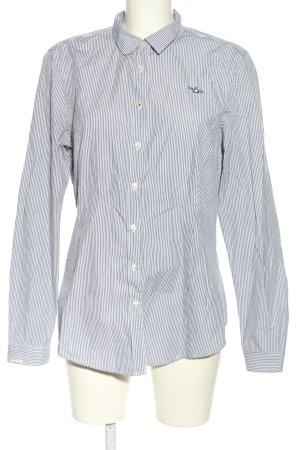 Gaastra Langarmhemd schwarz-weiß Allover-Druck Casual-Look