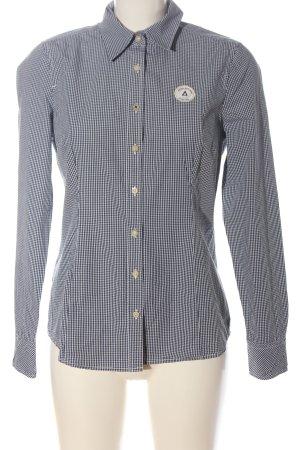 Gaastra Long Sleeve Shirt black-white check pattern casual look