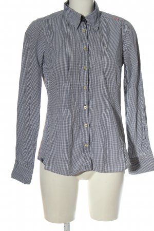 Gaastra Camicia a maniche lunghe blu-bianco stampa integrale stile professionale