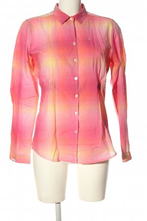 Gaastra Langarmhemd pink-blassgelb Karomuster Casual-Look