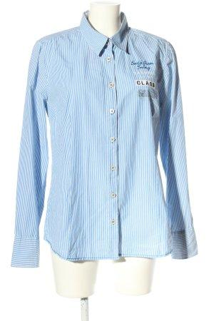Gaastra Langarmhemd blau-weiß Streifenmuster Business-Look