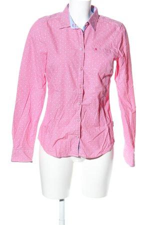 Gaastra Langarmhemd pink-weiß Karomuster Business-Look
