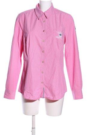 Gaastra Langarmhemd pink Schriftzug gestickt Business-Look
