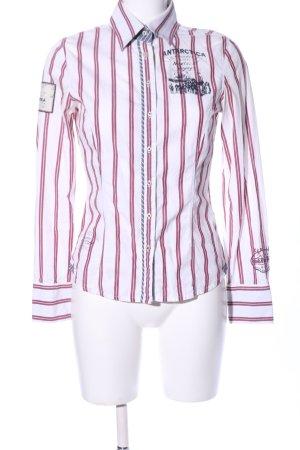 Gaastra Langarmhemd weiß-rot Motivdruck Casual-Look