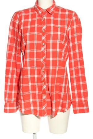 Gaastra Langarmhemd rot-weiß Karomuster Casual-Look