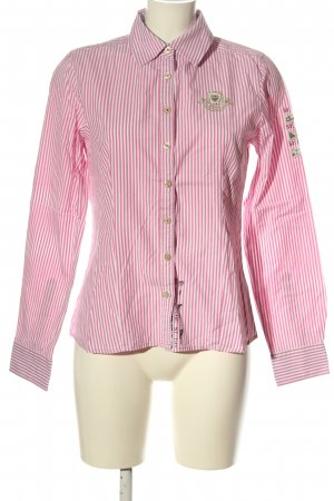 Gaastra Camisa de manga larga rosa-blanco look casual