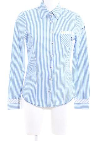 Gaastra Langarmhemd blau-weiß Streifenmuster Casual-Look