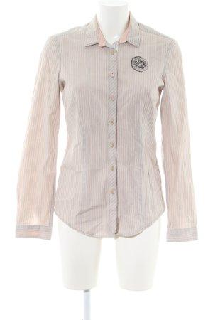 Gaastra Langarmhemd creme-weiß Streifenmuster Casual-Look