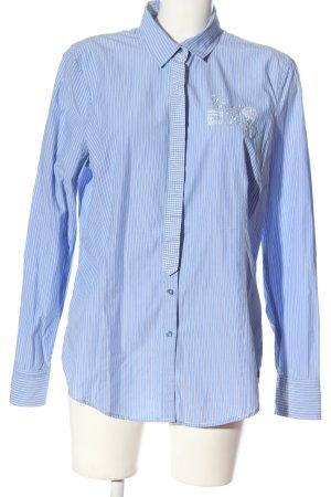Gaastra Chemise à manches longues bleu-blanc motif rayé style décontracté