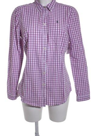 Gaastra Langarmhemd pink-weiß Karomuster Casual-Look