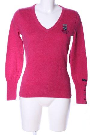 Gaastra Longsleeve pink-schwarz Business-Look