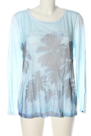 Gaastra Top à manches longues bleu-gris clair imprimé avec thème