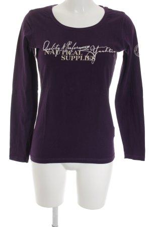 Gaastra Top à manches longues violet foncé style décontracté