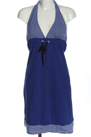Gaastra Neckholderkleid blau-weiß Streifenmuster Casual-Look