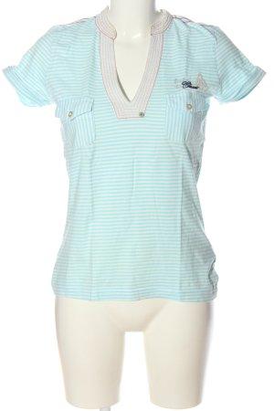 Gaastra Polo blanc-turquoise motif rayé style décontracté