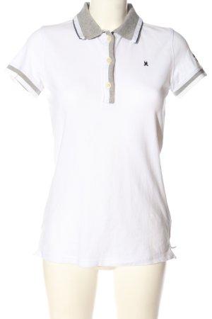 Gaastra Polo-Shirt weiß-hellgrau meliert Casual-Look