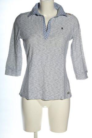 Gaastra Polo-Shirt blau-weiß Punktemuster Casual-Look