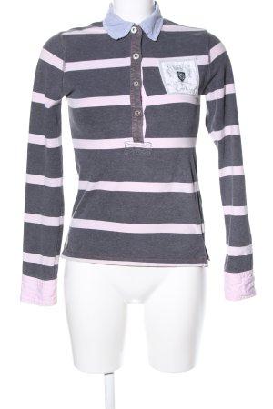 Gaastra Polo-Shirt hellgrau-pink meliert Casual-Look