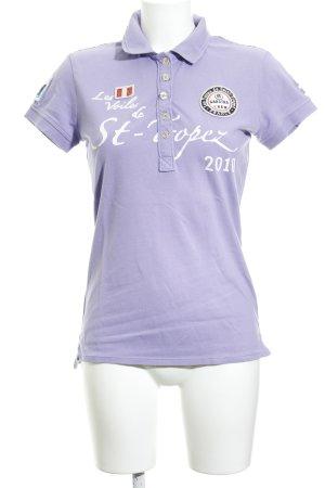 Gaastra Camiseta tipo polo malva estilo deportivo