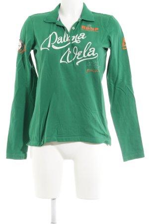 Gaastra Polo-Shirt grün Schriftzug gestickt klassischer Stil
