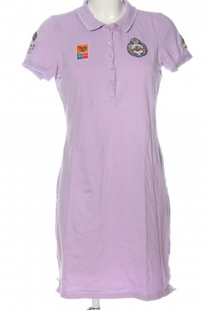 Gaastra Polo Dress lilac themed print casual look