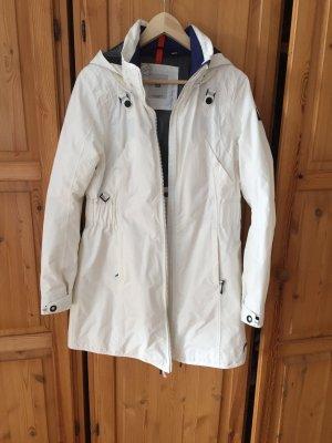 Gaastra Manteau de pluie blanc-bleu foncé