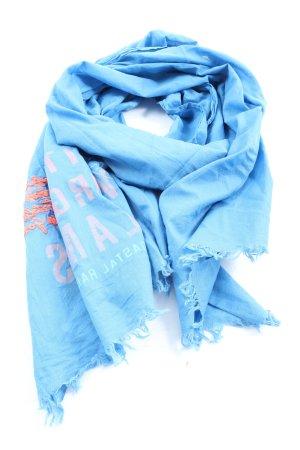 Gaastra Chal veraniego azul-rosa letras impresas look casual