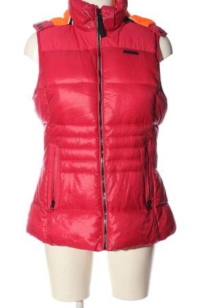 Gaastra Gilet de sport rouge motif de courtepointe style décontracté