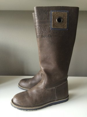 Gaastra Wide Calf Boots taupe synthetic material