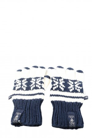 Gaastra Knitted Gloves blue-natural white graphic pattern casual look