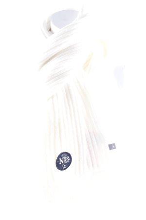 Gaastra Sciarpa lavorata a maglia bianco sporco stile romantico