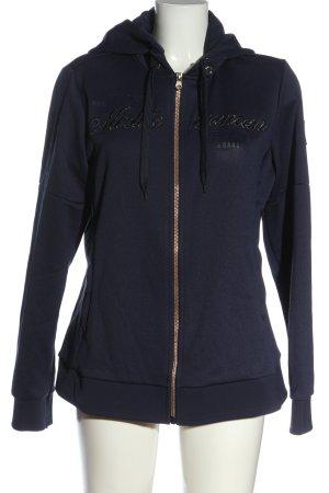 Gaastra Sweat Jacket blue themed print casual look