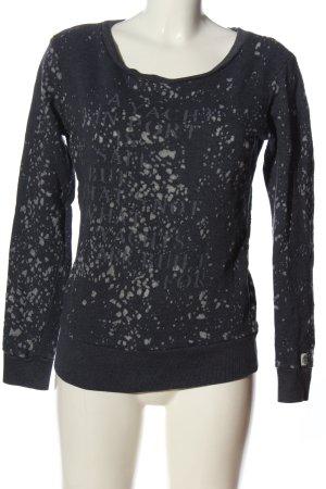 Gaastra Sweatshirt noir-gris clair imprimé allover style décontracté