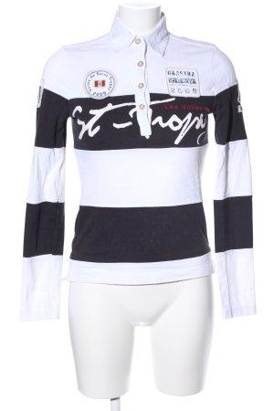 Gaastra T-Shirt weiß-schwarz Motivdruck Casual-Look