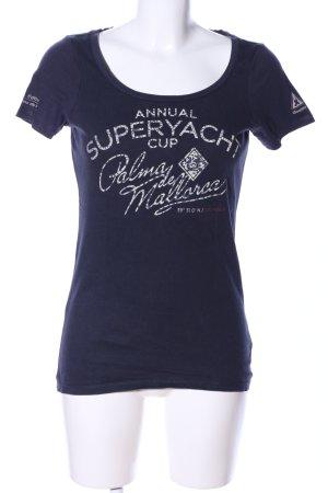 Gaastra T-Shirt blau Schriftzug gedruckt Casual-Look