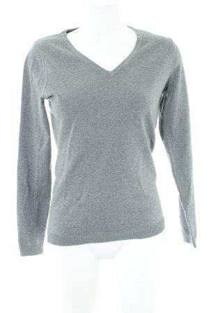 Gaastra V-Ausschnitt-Pullover hellgrau Allover-Druck Business-Look