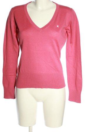 Gaastra V-Ausschnitt-Pullover pink Casual-Look