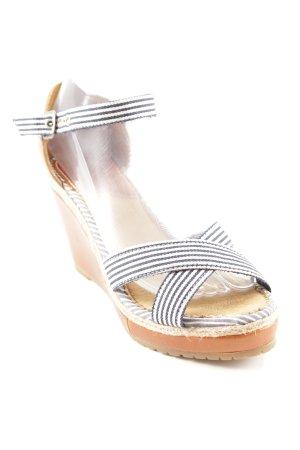 Gaastra Wedges Sandaletten Streifenmuster Romantik-Look