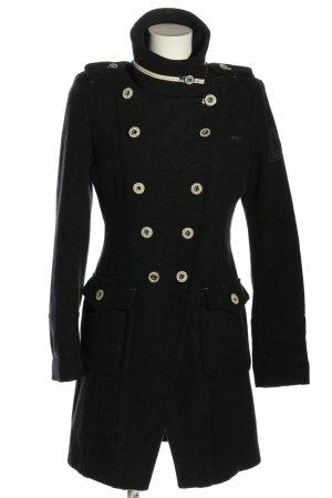 Gaastra Wollen jas zwart-wit elegant