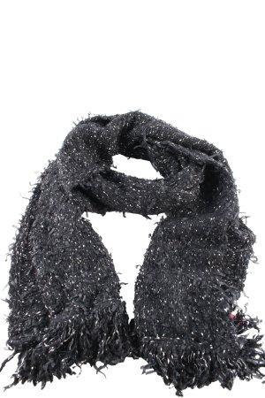 Gabi Lauton Fransenschal schwarz-weiß Allover-Druck Casual-Look