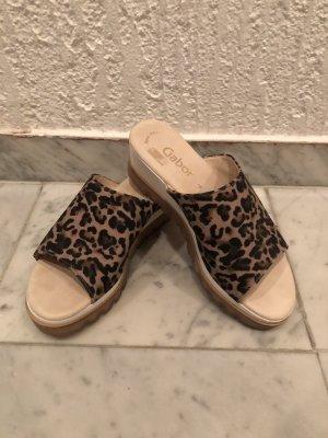 Gabor Heel Pantolettes black-dark brown leather