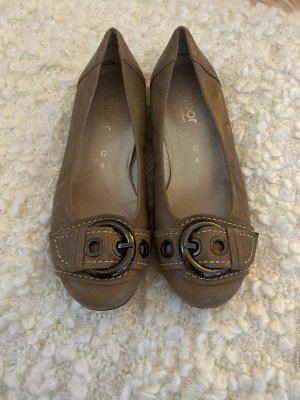 Gabor Mary Jane Ballerinas light brown